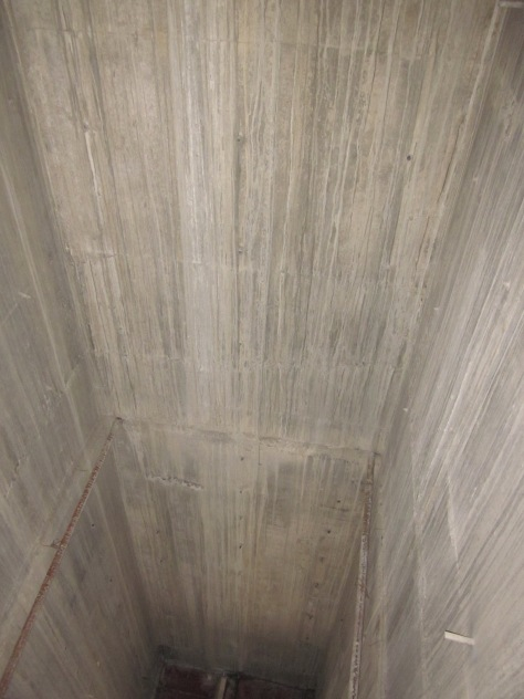 INTERNAL SURFACE OF THE RCC WALL FOR LIFT WELL.